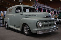 Full-size car Ford F1 Panel truck, 1951. Die Oldtimer Show 2019.
