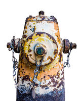 Grungy Isolated Old Fire Hydrant