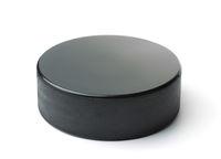 Black ice hockey puck