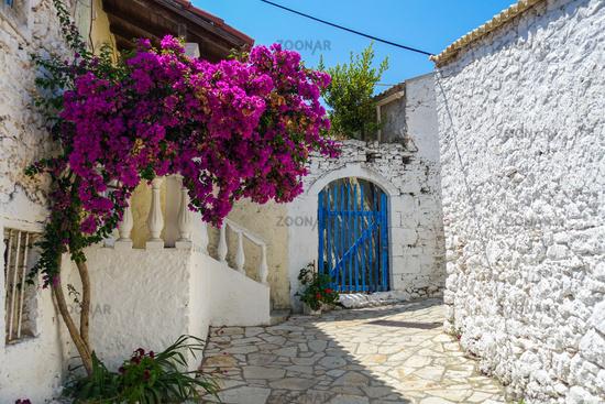 The picturesque village of Afionas, Corfu, Greece
