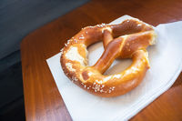 typical bavarian pretzel