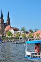 Neuruppin at Lake Ruppiner See in Brandenburg,Germany