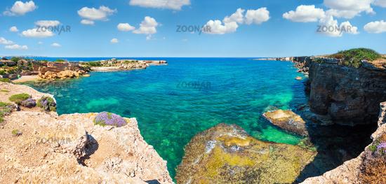Sicily summer sea beach, Italy