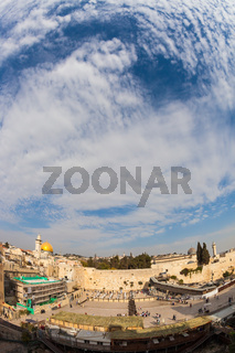 Windy autumn day in Jerusalem