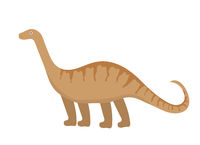 Apatosaurus icon flat style. Isolated on white background. Vector illustration