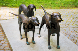 Vilnius, Lithuania - Monument to hunting dogs