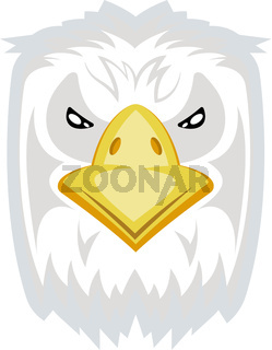 Angry looking eagle, illustration, vector on white background.