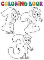 Coloring book children with numbers