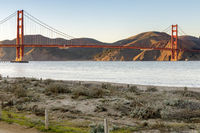 The Golden Gate Bridge as seen from West Bluff in Crissy Field
