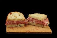Sandwich cut on half
