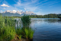 Lake Barmsee at the Karwendel mountains