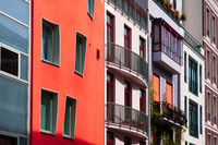 Colorful building facades - real estate concept