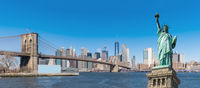 Panorama Statue of liberty New York Background