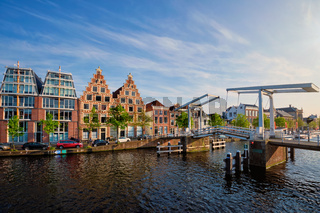 Gravestenenbrug bridge in Haarlem, Netherlands