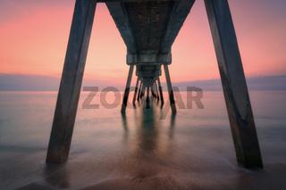 Colorful Sunrise at the Pier, Florida, USA