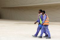 National Museum of Qatar workers