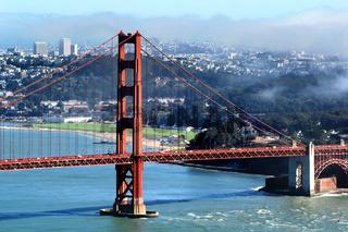 Golden Gate Bridge and San Francisco Bay, seen from Marin Headlands.