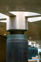 detailed look at a daylight lamp at the Berlin underground station Bundestag