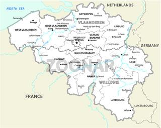 belgien administrative und politische vektorkarte
