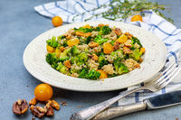 Broccoli salad and quinoa. Healthy diet.