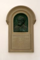 Memorial plaque Georg Schudt Bad Homburg