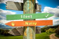 Street Sign Silent versus Noisy
