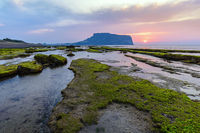 Jeju Island South Korea, Sunrise landscape at Seongsan Ilchulbong