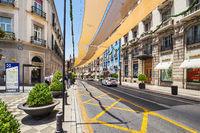 Street in the historical center of Granada, Spain