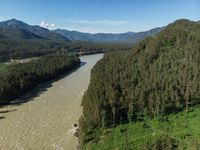 Aerial view of Katun river