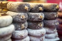 Dried salami sausages