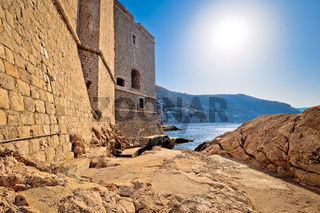 Under the Dubrovnik city walls view