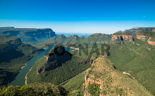 Blyde River Canyon from the Three Rondavels viewpoint, Mpumalanga, South Africa.
