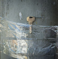 Lost Keys Taped To Pole