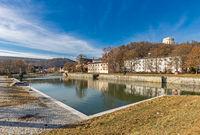 Old port at historic Ludwig Danube Main Canal in Kelheim