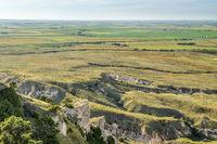 Nebraska farmland aerial view