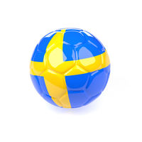 Soccer ball with the flag of Sweden