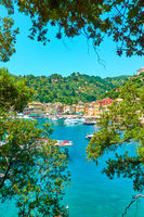 View of Portofino in Italy