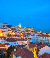 Skyline Lisbon Old Town  Portugal