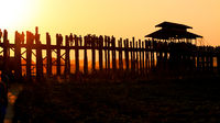 U Bein bridge at Taungmyo Lake near Amarapura in Myanmar