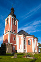 CZECH REPUBLIC - SEPTEMBER 25, 2012: A small church in a small village in the Northen part of the Czech Republic
