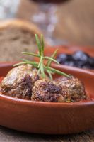 Albondigas, eine spanische Tapas-Vorspeise