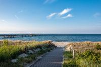 Ostseeküste in Göhren auf der Insel Rügen