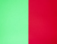 abstract paper background, half green and red