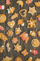 Christmas gingerbread made by children.