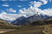 Snow capped mountains, Spiti, Himachal Pradesh, India