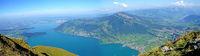 Panorama view from the Mount Rigi in Switzerland