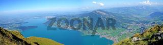 Panoramablick von der Rigi in der Schweiz