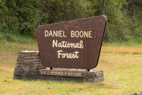 Sign Says Daniel Boone National Forest Department of Agriculture