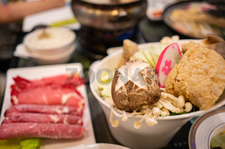 Fresh Ingredients for Taiwanese Styled Hot Pot