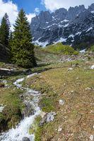 Bach im wilden Kaisergebirge